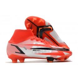 Nike Mercurial Superfly VIII Elite DF CR7 FG Rouge Piment Noir Fantôme Orange Total