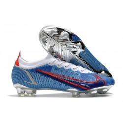 Nike Neuf Mercurial Vapor XIV Elite FG Bleu Argent Rouge