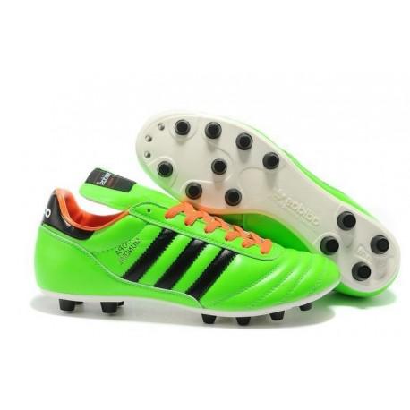 Crampon Foot - adidas Copa Mundial -Terrain Souple - Chaussure Homme Vert Noir