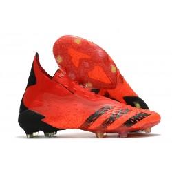 adidas Chaussures Predator Freak + FG Rouge Noir Rouge Solaire