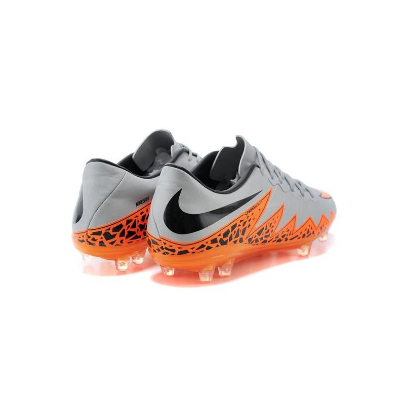 super popular 03353 7065a Pas Cher Crampons Nike Hypervenom Phantom ACC Premium FG Argenté Orange Noir