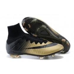 Coupe du Monde 2014 Chaussures Mercurial Superfly IV FG Nouvelle CR7 Or Noir