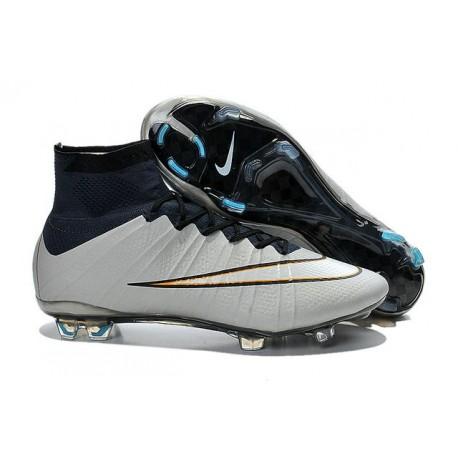Coupe du Monde 2015 Chaussures Mercurial Superfly IV FG Nouvelle Argent  Blanc Hyper Turquoise Noir