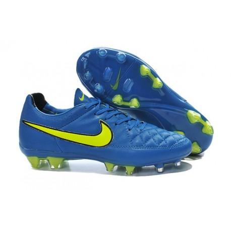 Chaussure de Football Nike Tiempo Legend V FG Pas Cher Bleu Volt Noir