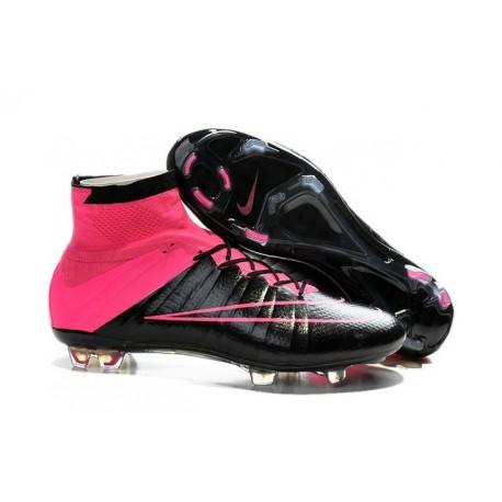 2015  Chaussures Mercurial Superfly IV FG Nouvelle Noir / Rose Hyper