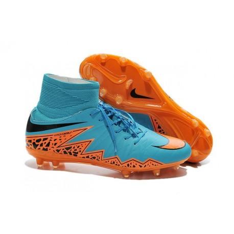 Hommes Nike HyperVenom Phantom II FG Chaussures de football ACC Bleu Orange Noir