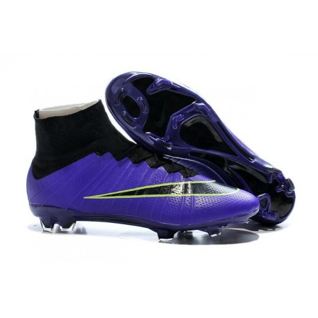 2015 Homme Chaussures Football Mercurial Superfly FG Violet Noir