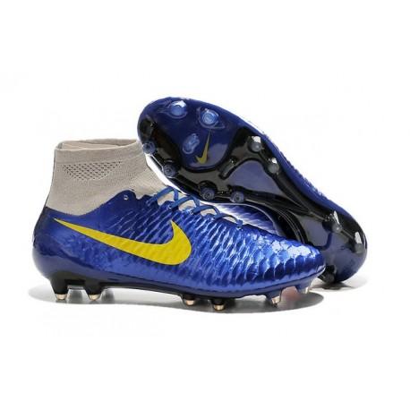 Nouvelle Homme Cramspon de Foot Nike Magista Obra FG Marine Bleu Gris
