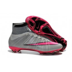2015 Homme Chaussures Football Mercurial Superfly FG Gris Hyper Rose