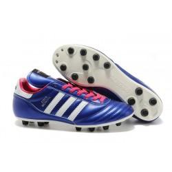 Chaussures de Foot Adidas Copa Mundial Nouveau Homme Violet Blanc