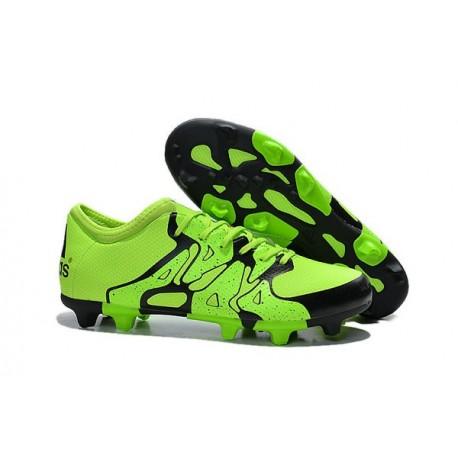 Nouvelles Adidas Chaussures de Foot X 15.1 FG/AG - Noir Vert