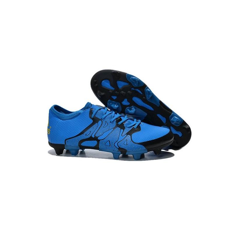 2015 adidas chaussures de foot x 15 1 fg ag crampons hommes bleu noir. Black Bedroom Furniture Sets. Home Design Ideas