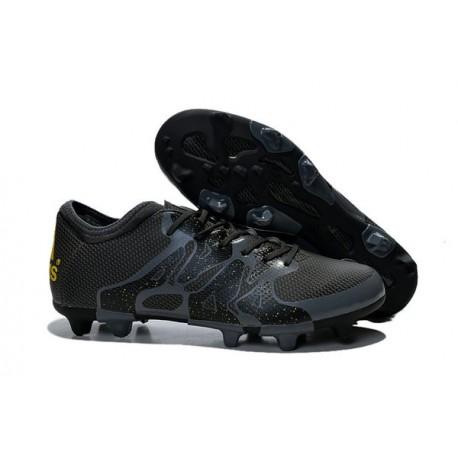Nouvelles Adidas Chaussures de Foot X 15.1 FG/AG - Noir Or