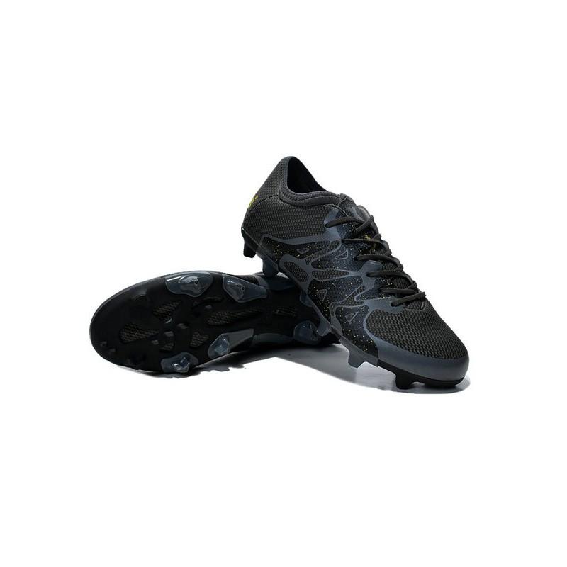 best service 665b9 23900 Nouvelles Adidas Chaussures de Foot X 15.1 FG AG - Noir Or
