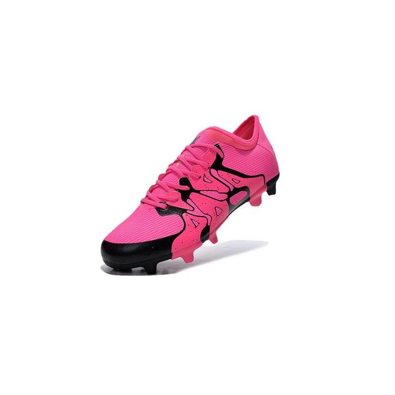 2015 adidas chaussures de foot x 15 1 fg ag crampons hommes rose noir. Black Bedroom Furniture Sets. Home Design Ideas