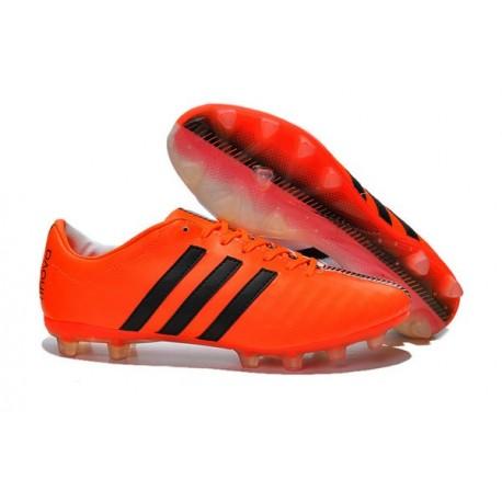 Nouveau Crampons Foot Adidas 11Pro FG Pas Cher Orange Noir