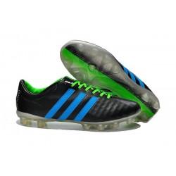 2015 Crampons Adidas 11Pro FG Adidas Chaussures Noir Bleu Vert