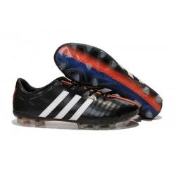 Nouveau Crampons Foot Adidas 11Pro FG Pas Cher Noir Blanc Rouge