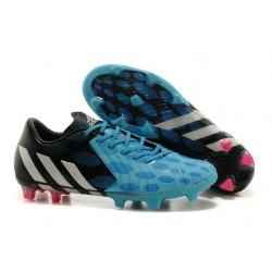 Chaussures de Foot Adidas Predator Instinct FG Noir Blanc Bleu