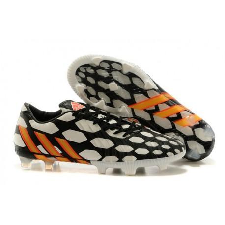 Chaussures Adidas Predator Instinct Battle Pack FG Noir Blanc Orange