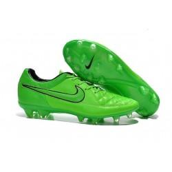 Nouvelle Chaussure de Football Nike Tiempo Legend V FG Vert Noir