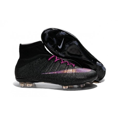 2015 Homme Chaussures Football Mercurial Superfly FG Noir Violet