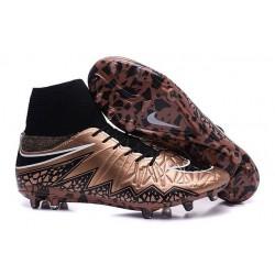 Nouvelles chaussures Nike HyperVenom Phantom II FG Football Crampons Cannelle Noir Blanc