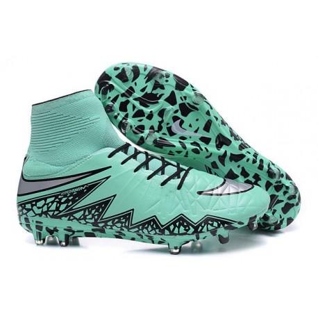 Hommes Nike HyperVenom Phantom II FG Chaussures de football ACC Vert Noir Gris