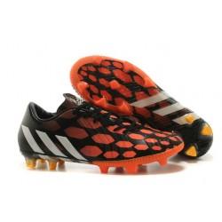 Chaussures de Foot Adidas Predator Instinct FG Noir Blanc Rouge