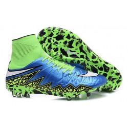 Hommes Nike HyperVenom Phantom II FG Chaussures de football ACC Bleu Lagon Blanc Volt Noir