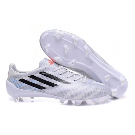 Nouveau Crampous Foot Adidas F50 Adizero Messi TRX FG Homme Blanc Noir