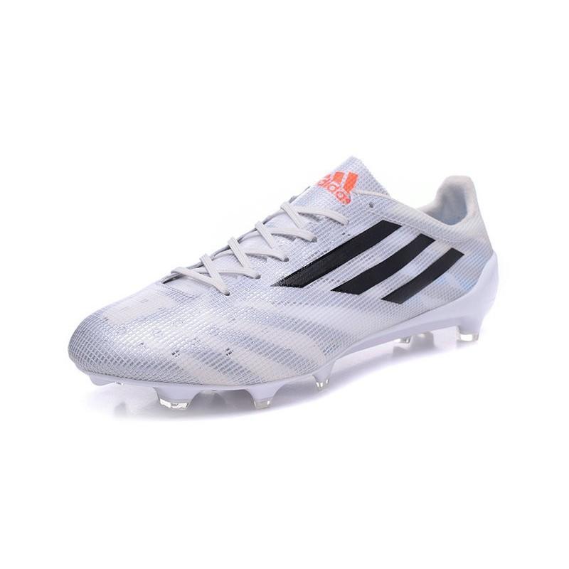 official photos 34985 5aade Nouveau Crampous Foot Adidas F50 Adizero Messi TRX FG Homme Blanc Noir