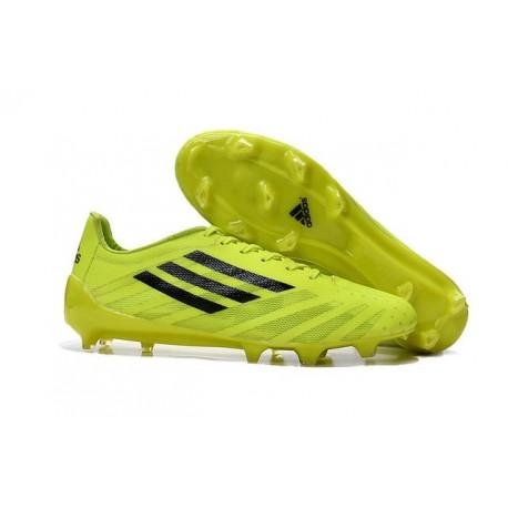 Chaussures de Foot Adidas F50 adizero Messi FG Volt Noir