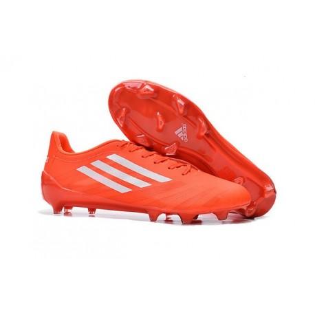 Chaussure Homme Adidas F50 Adizero Messi TRX FG Orange Blanc