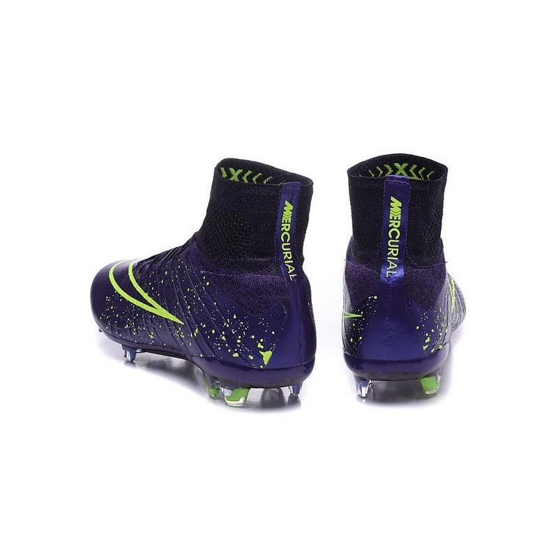 Violet Homme 2015 Superfly Cuir Mercurial Football Chaussures Vert Fg 0OnP8Xwk