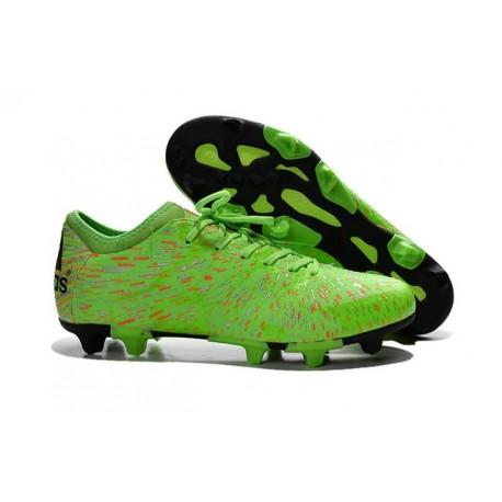 Nouvelles Adidas Chaussures de Foot X 15.1 FG/AG - Vert Rouge Noir