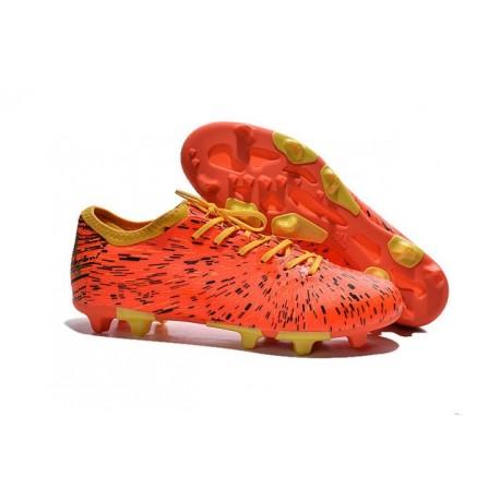 2015 Adidas Chaussures de Foot X 15.1 FG / AG - Crampons Hommes Orange Noir Jaune