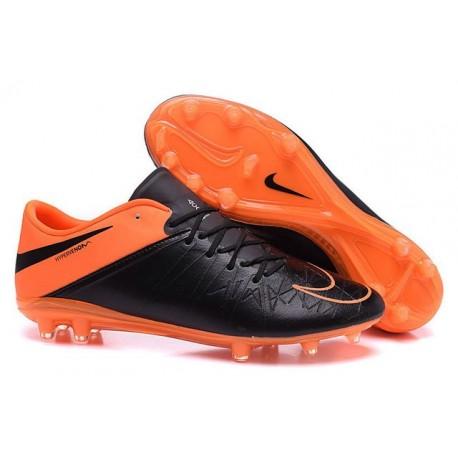 2015 Nike Hypervenom Phinish II FG Homme Cuir Orange Noir