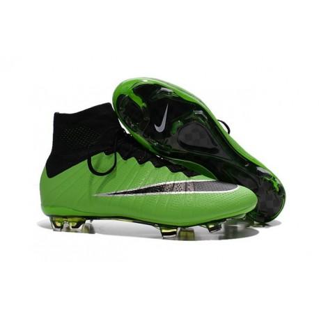 2015 Homme Chaussures Football Mercurial Superfly FG Vert Noir
