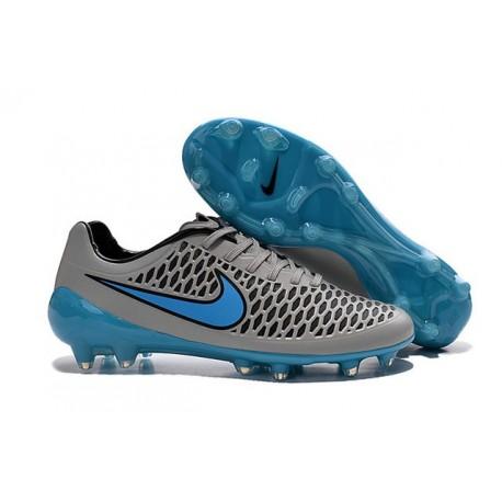Nouvelle Crampons Nike Magista Opus FG Gris Loup Bleu Turquoise Noir