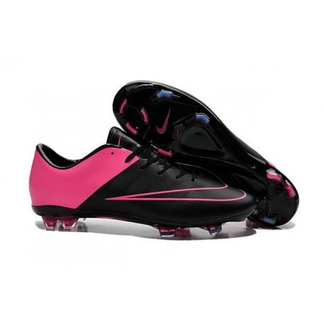 Chaussures de Football Nike Mercurial Vapor 10 FG Noir Hyper Rose