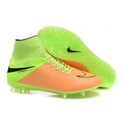 Hommes Nike HyperVenom Phantom II FG Chaussures de football ACC Cuir Beige Noir Volt
