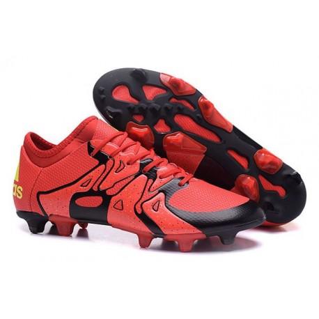 Nouvelles Adidas Chaussures de Foot X 15.1 FG/AG - Rouge Noir Volt