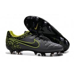 Nouveau Chaussures Nike Tiempo Legend V FG Homme Anthracite Noir Volt