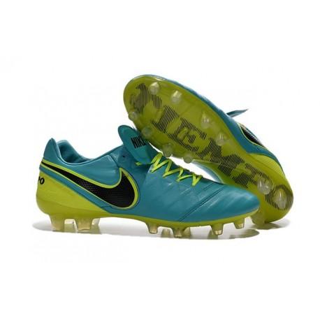 Nike 2016 Chaussures de Football Tiempo Legend 6 FG Bleu Noir Volt