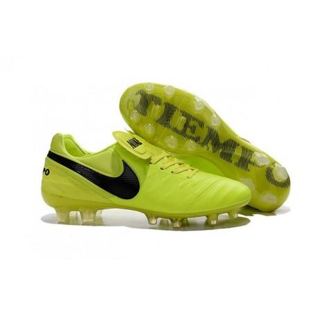 Nouveau Nike Crampons de Football Tiempo Legend VI FG Volt Noir