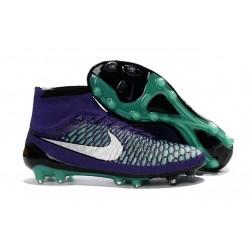 Nouvelle Homme Cramspon de Foot Nike Magista Obra FG Vert Violet Noir Blanc