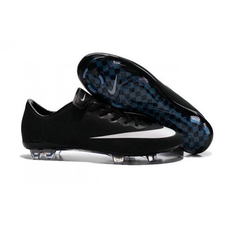 2016 Crampons de Foot Nike Mercurial Vapor X FG Homme Noir  Blanc