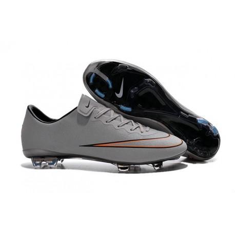 Chaussures de Football Nike Mercurial Vapor 10 FG Argent Blanc Hyper Turquoise Noir