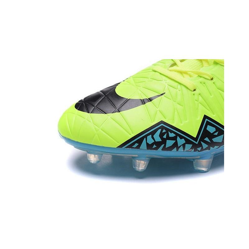 info for 19bbc bfdcf Nouvelles chaussures Nike HyperVenom Phantom II FG Football Crampons Volt  Bleu Noir